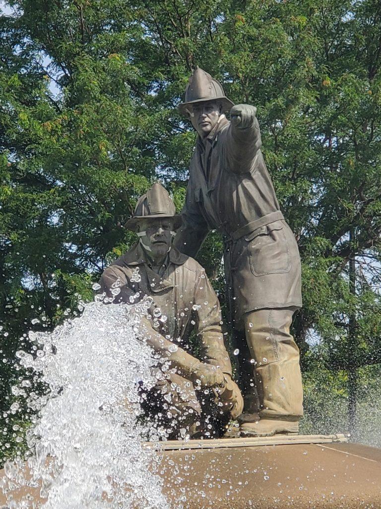 Firefighter Fountain KCMO