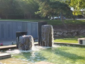 Vietnam Memorial Fountain Wall of Names, KCMO